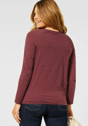 MIT STREIFEN MUSTER - Long sleeved top - braun