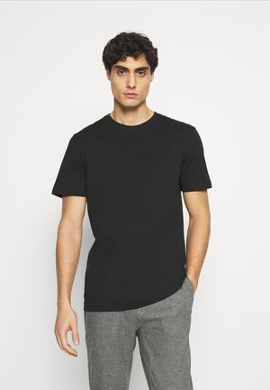 SLHNORMAN O NECK TEE  - T-paita - black