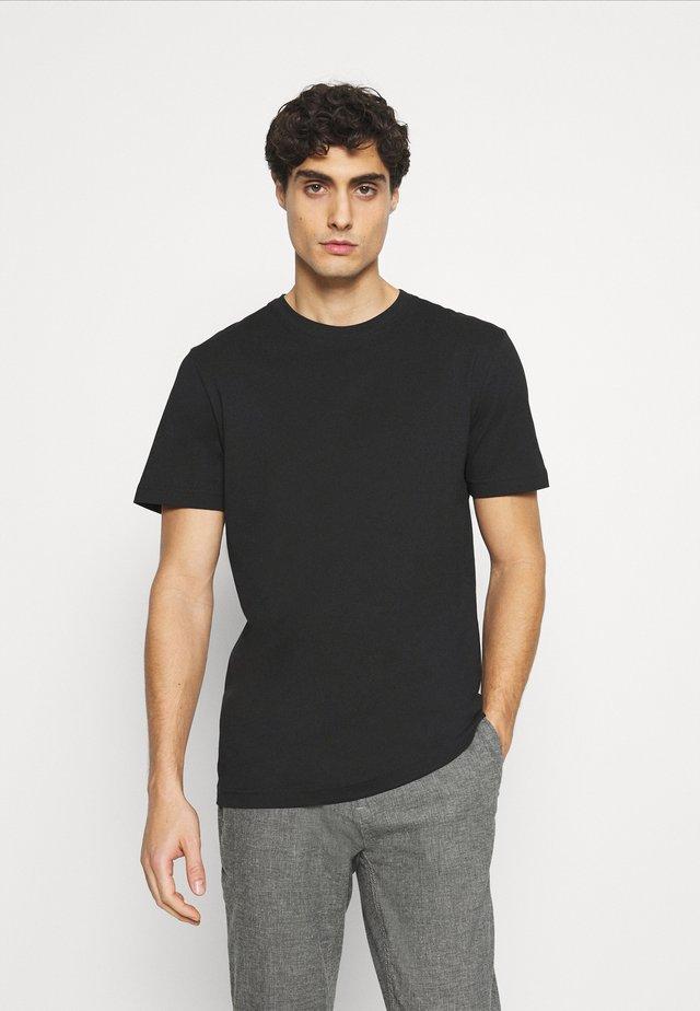 SLHNORMAN O NECK TEE  - Basic T-shirt - black