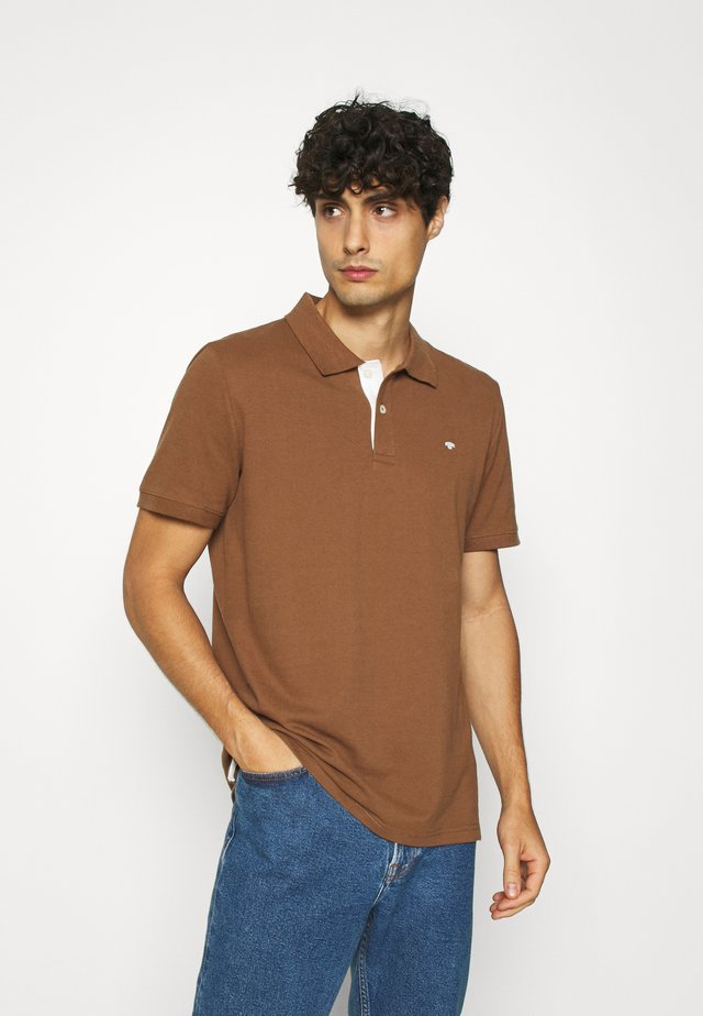 WITH CONTRAST - Polo - brown