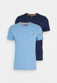 Superdry - VINTAGE TEE MULTI 2 PACK - Basic T-shirt - royal blue/navy blue feeder - 4