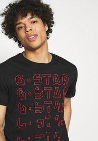 G-Star - EMBRO GRADIENT GRAPHIC LASH - Print T-shirt - black - 3