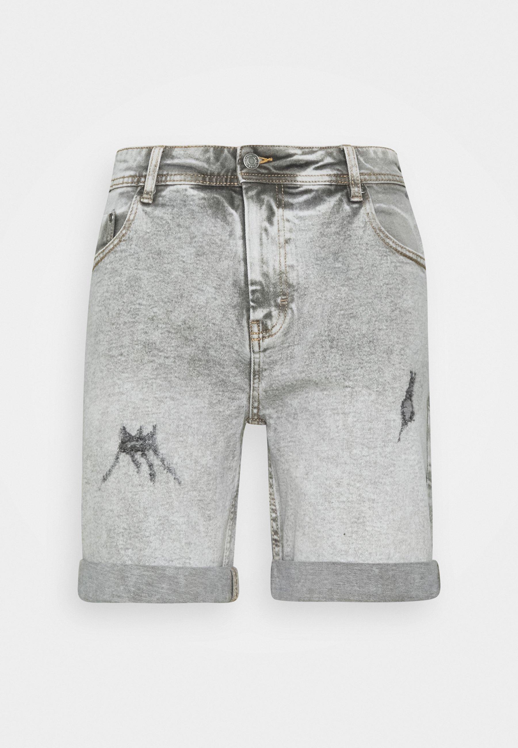 Men LIGHT DESTROY - Denim shorts