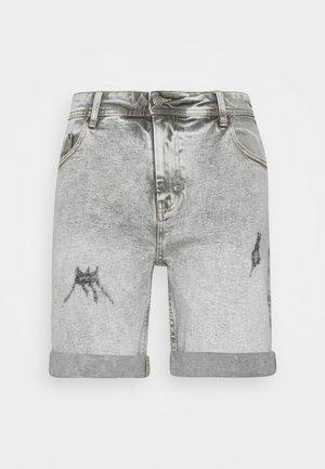 LIGHT DESTROY - Shorts di jeans - silver grey