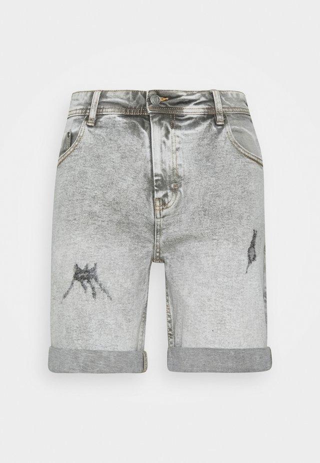 LIGHT DESTROY - Jeansshort - silver grey