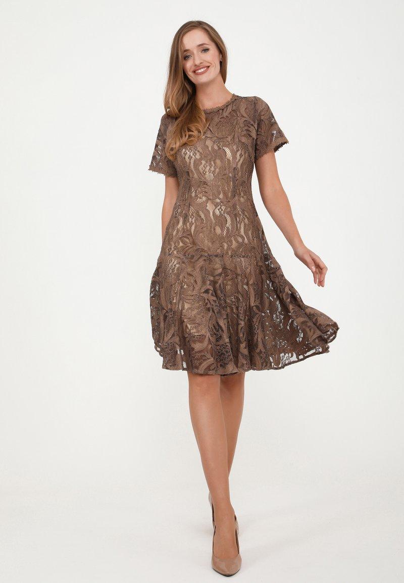 Madam-T - SACASA - Cocktail dress / Party dress - marron