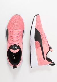 Puma - FLYER RUNNER JR UNISEX - Neutral running shoes - salmon rose/black/white - 0