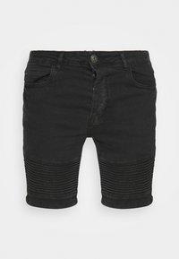 BIKER - Denim shorts - charcoal