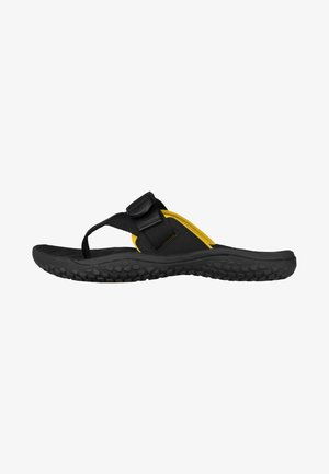 Pool slides - black/gold
