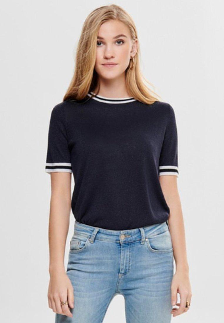 ONLY - MIT KURZEN ÄRMELN  - T-shirts print - dark blue
