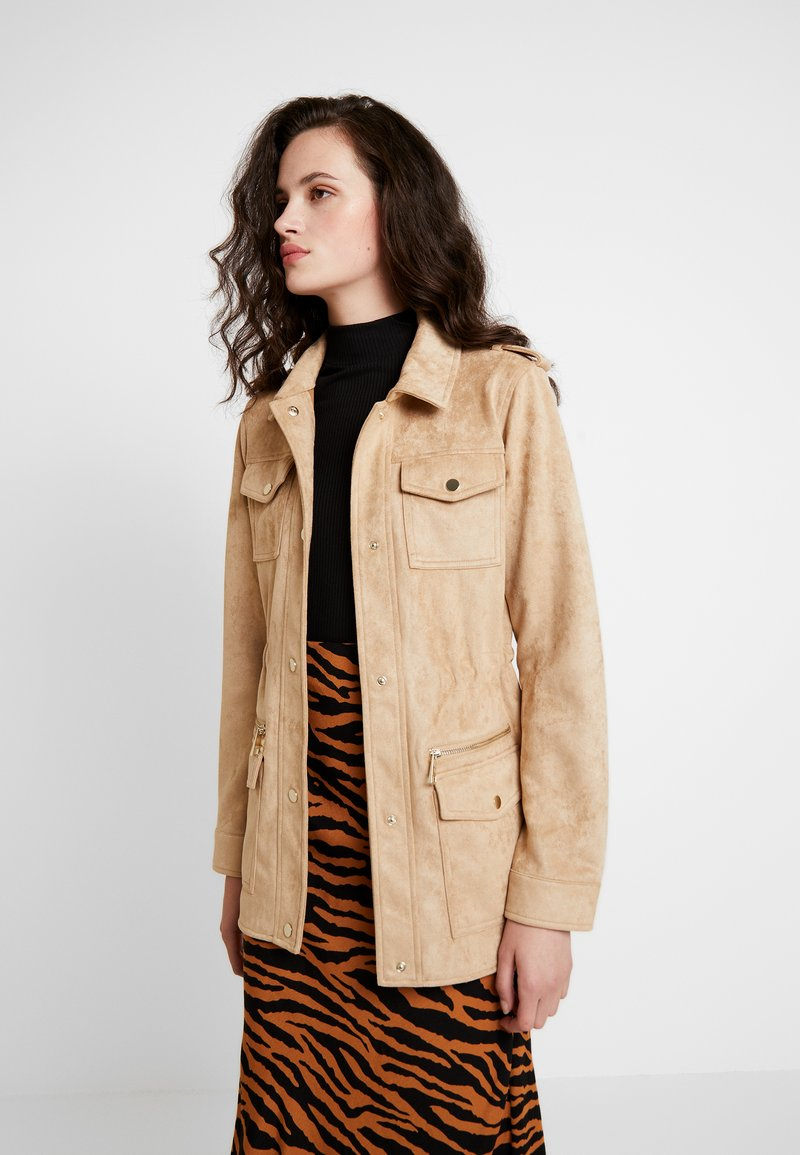 River Island - ARMY JACKET - Faux leather jacket - sand