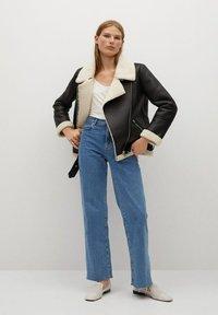 Mango - ADRI-I - Faux leather jacket - black - 1