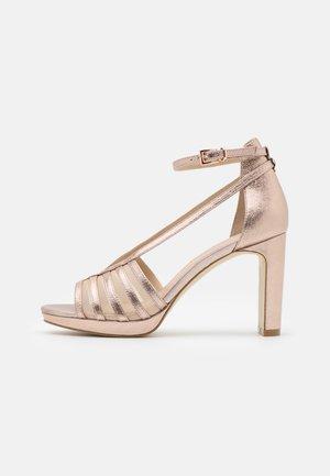 LEATHER - Højhælede sandaletter / Højhælede sandaler - rose gold