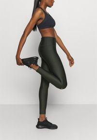 Under Armour - HI RISE LEGGING - Tights - baroque green - 3