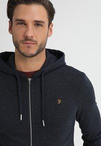 Farah - KYLE HOODIE - Zip-up hoodie - true navy marl - 5