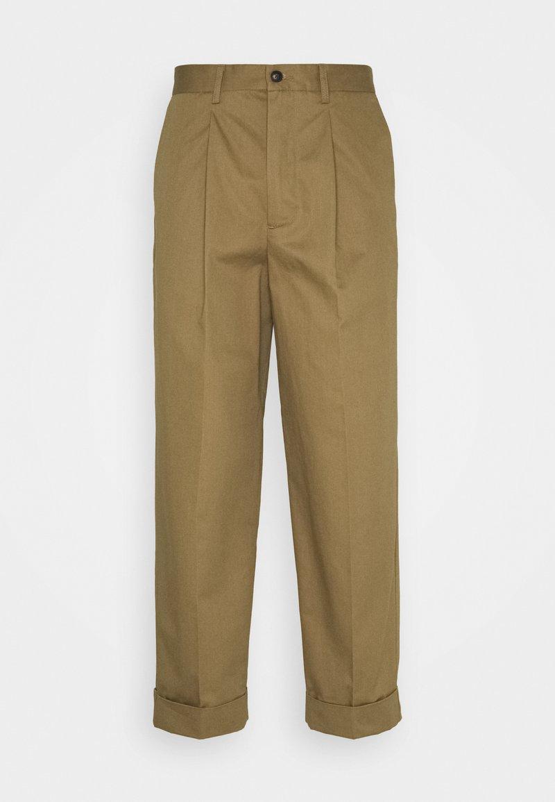 Les Deux - PRESTON PANTS - Tygbyxor - stone brown
