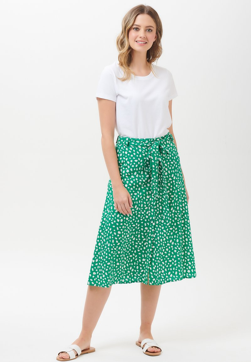 Sugarhill Brighton - ROSANNA PAINTERLY SPOT - A-line skirt - green