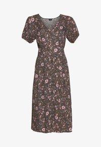 Cotton On - WOVEN PUFF SLEEVE MIDI DRESS - Day dress - black - 4