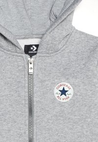 Converse - CHUCK PATCH FULL ZIP HOODIE  - Hoodie met rits - dark grey heather - 4