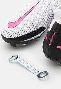 Nike Performance - PHANTOM GT ACADEMY DF SGPRO AC - Screw-in stud football boots - white/pink blast/black - 5