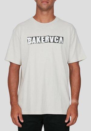 Print T-shirt - bone