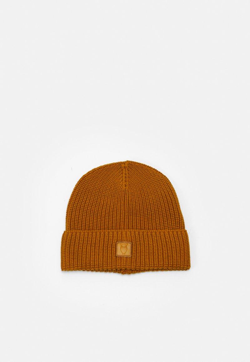 Knowledge Cotton Apparel - LEAF HAT UNISEX - Beanie - buckhorn brown