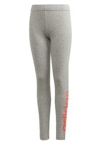 adidas Performance - ESSENTIALS LINEAR LEGGINGS - Leggings - grey - 0