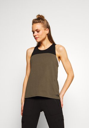 WOMENS NORTH DOME TANK - Topper - new taupe green/black
