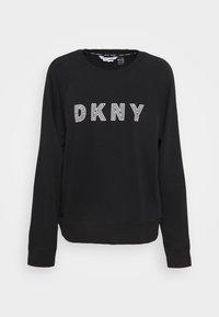 DKNY - EMBROIDERED TRACK - Sweatshirt - black - 0