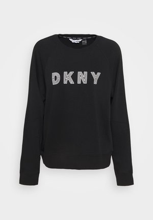 EMBROIDERED TRACK - Sweater - black
