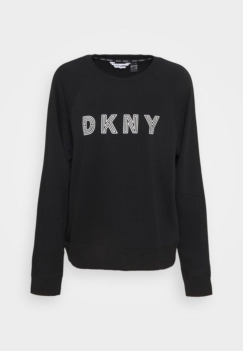 DKNY - EMBROIDERED TRACK - Sweatshirt - black