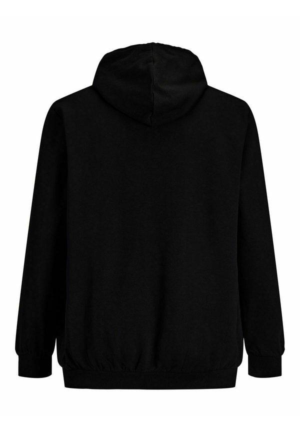 Jack & Jones Bluza z kapturem - black/czarny Odzież Męska WSBG