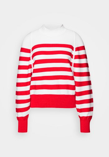 LOOSE FITTED PULLOVER IN SPECIAL BRETON