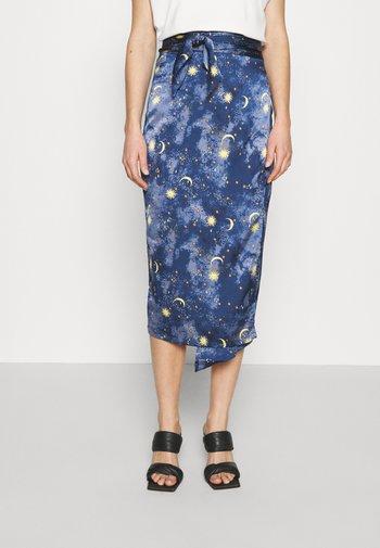 MOON STARS JASPRE SKIRT - Pouzdrová sukně - navy