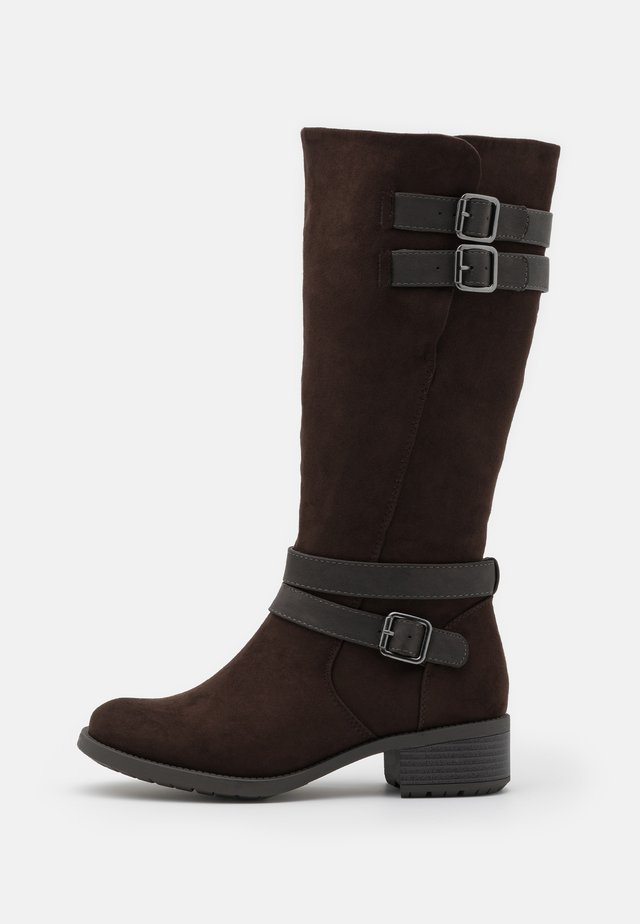 WIDE FIT RIDER BOOT - Boots - brown
