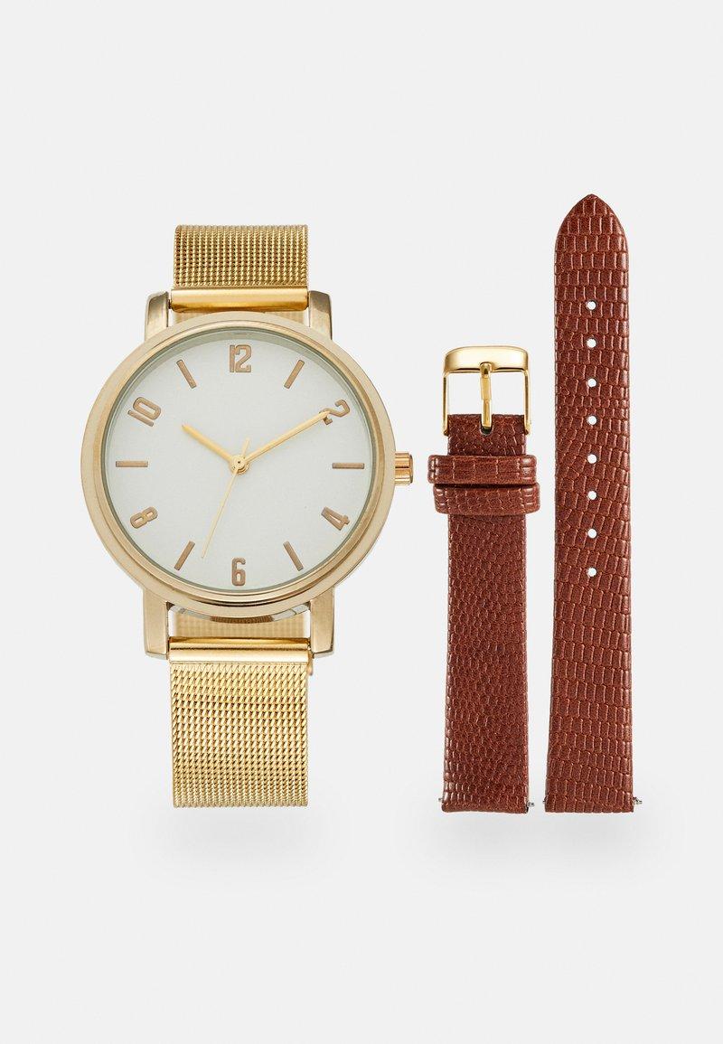 Anna Field - SET - Watch - cognac/gold-coloured