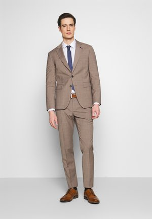 SLIM FIT SUIT - Suit - beige