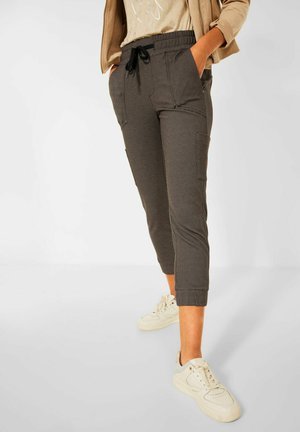 JACQUARD - Trousers - braun