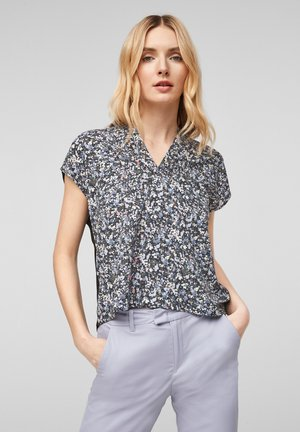 T-shirt print - black floral print