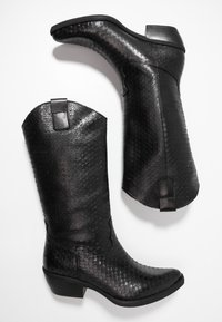 Felmini - EL PASO - Cowboy/Biker boots - naja/black - 3