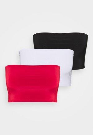 SCULPTED SEAM FREE BASIC BANDEAU 3 PACK - Toppi - black/white/red
