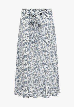 A-line skirt - d blue p