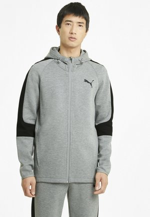 Zip-up hoodie - medium gray heather