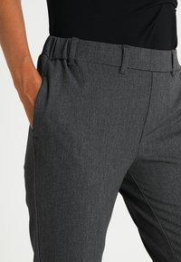 Kaffe - RONIE PANTS - Trousers - dark grey melange - 5