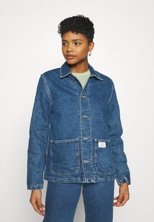 QUILT CHORE JACKET - Denim jacket - dark vintage