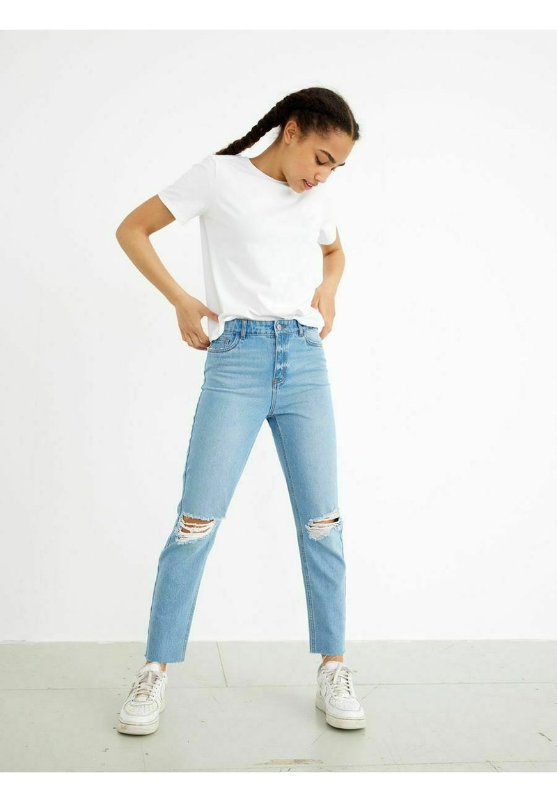 LMTD - HIGH WAIST - Slim fit jeans - light blue denim