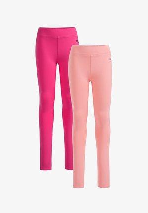 2 PACK - Leggings - pink