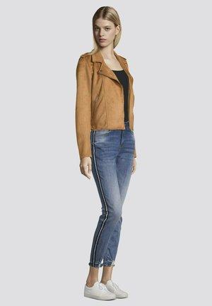 Faux leather jacket - soft dusty camel