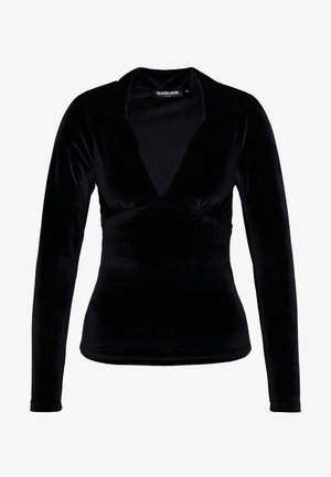 SIMMA - Bluzka z długim rękawem - black