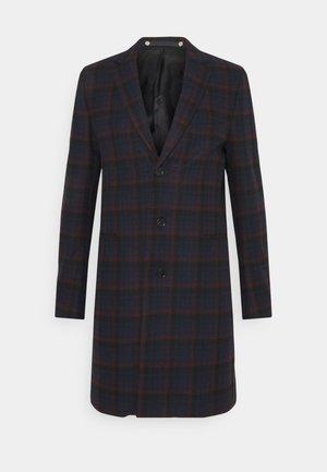 MENS OVERCOAT - Classic coat - dark blue/red